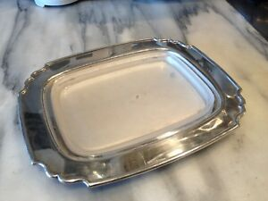 Art Deco Silver Plated Butter Dish With Frosted Glass Liner