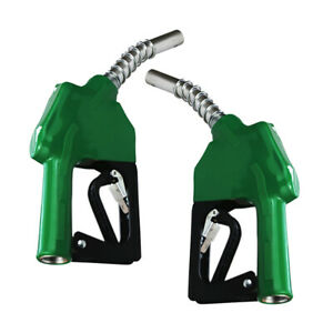 2x Dispensing Station Diesel Oil Fuel Auto Delivery Nozzle Hose Trigger Gun