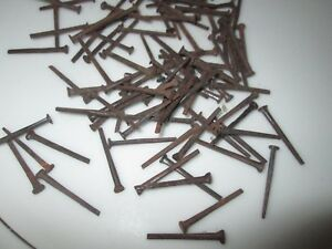 100 Vintage 1 Square Cut Nails Flat Head New Old Stock Nails