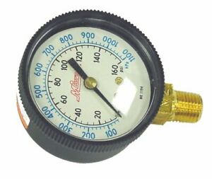 1194 Milton 1194 Pressure Gauge 1 4 Npt Bottom 0 160 Psi 2 In Face