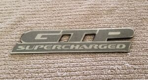 1997 2003 Pontiac Grand Prix Gtp Supercharged Door Side Badge Emblem Logo Oem