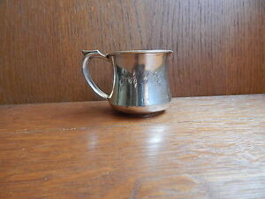 2 Ounce Gorham Baby Cup Heavy Sterling Silver Large Vintage