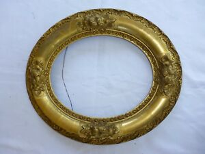 Antique Gold Painted Oval Picture Frame 8 X 10 3