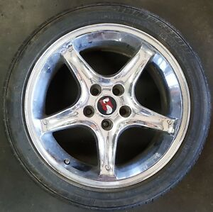 Original Oem 95 Mustang Cobra R Wheels Set Of 4 Used Good Shape