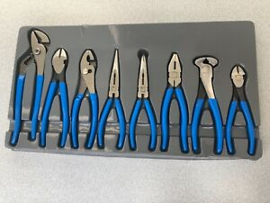 Blue Point 8 Piece Combination Plier Set Bdgpl800 New Adjustable Needle Bent