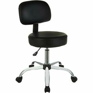 Basics Swivel Chairs Multi purpose Drafting medical spa Stool With Back Cushion