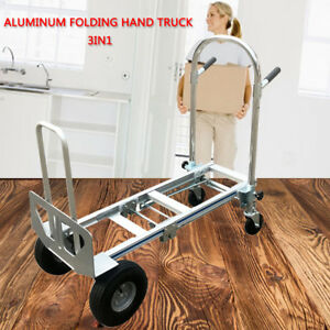 3 In 1 Aluminum Hand Truck 350kg Weight Capacity Convertible Utility Hand Cart
