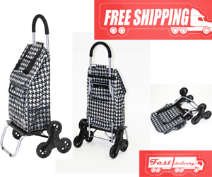 Stair Climber Trolley Dolly Cart Grocery Foldable Condo Apartment Laundry Basket