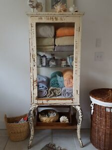 Unique Antique Apothecary Medicine Dentist Cabinet Curio Display Case