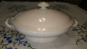 Dated 1867 Ironstone Tureen By Henry Alcock Co Parisian Porcelain Florence