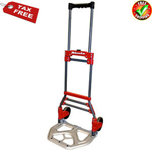 Small Hand Truck Dolly Folding Cart 2 Wheel Solid Foldable Portable Collapsible