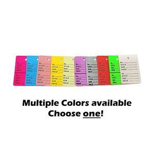 Two part Number Style Size Price Perforated Coupon Tags 1 25 X 1 875