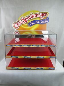 New Otis Spunkmeyer Cookies Pop Clear Acrylic Display Case W 3 Shelves