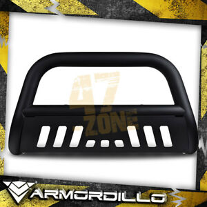 For 2013 Ford Expedition Matte Black 3 Bull Bar Bull Guard W Skid Plate