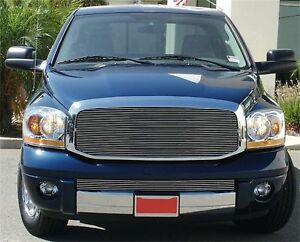Fit 2006 2008 Dodge Ram 2500 Aluminum Polished Horizontal Billet Grille