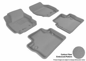 3d Fits 2007 2012 Volvo S80 G3ac22921 Gray Waterproof Front And Rear Car Parts F