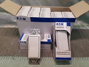 Eaton 7503w box 3 way Decorator Switch White Box Of 10 Brand New Free S