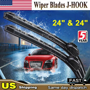 All Season 24 24 Inch Oem Quality Bracketless Windshield Wiper Blades Set Of 2