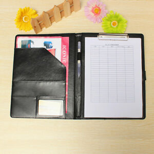Executive A4 Conference Folder With Clipboard And Business Card Slots New