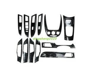 13pcs Carbon Fiber Style Car Interior Kit Cover Trim For Buick Excelle