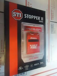 Stopper Ii With Horn Flush Mount Sti 1100 Fire Alarm