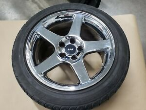 2003 2004 Ford Mustang Cobra Svt Chrome Wheel Rim Tire 17x9 Oem