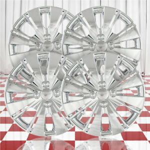 15 Push on Chrome Hubcaps For 2012 2015 Toyota Yaris qty Four