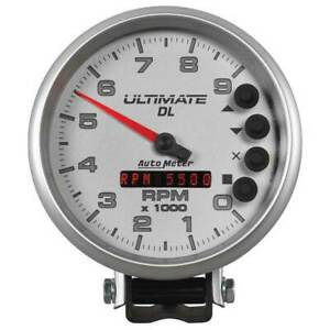 Autometer Ultimate Dl 5 Playback Tachometer 0 9000 Rpm White Gauge