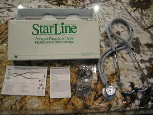 Reduced Price Starline Sprague Rappaport Type Professional Stethoscope grey