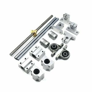 Mergorun 200mm Horizontal Optical Axis 8mm Lead Screw Dual Rail Shaft Suppo