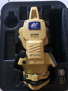 Topcon Gts 239w Total Station Transit With Case Charguer Battery like A New