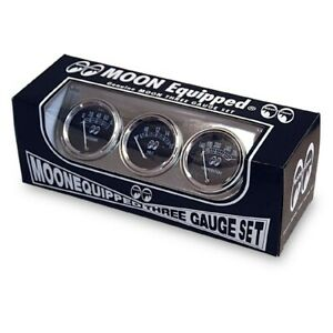 Mooneyes Classic 3 Gauge Set With Chrome Under Dash Panel Mechanical Mpg5030