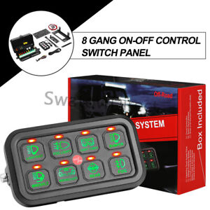 8gang Switch Panel Electronic Control Relay Fuse System Car Boat Wiring Mount