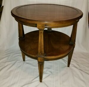 Brandt Furniture Diplomat Solid Cherry Round Side End Table Marshall Fields 26