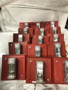 lot Of 15 Wheelock Red Fire Alarm Horn strobe eh dl1 wm 24