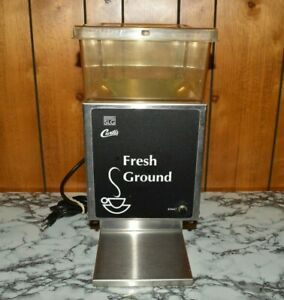 Wilbur Curtis Model Slg 10 05 Commercial Coffee Grinder W Hopper holds 5 Lbs