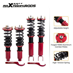 Twin tube Damper Coilover Suspension Kits For Honda Accord 2008 2012 Red