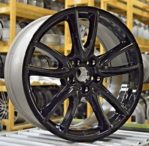 19 Ford Mustang 2011 2012 2013 2014 Factory Oem Rim Wheel 3862 Gloss Black Set