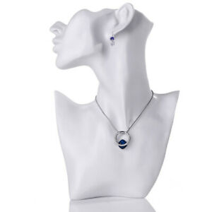 Necklace And Earring Bust Jewelry Display Resin Material Female Mannequin
