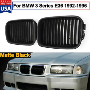 For 92 96 Bmw M3 E36 Sedan Coupe Cabrio Compact M Look Kidney Grille Grill Black