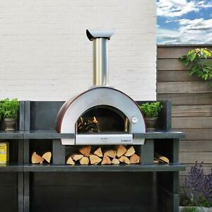 Alfa 5 Minuti 23 inch Outdoor Countertop Wood fired Pizza Oven Copper