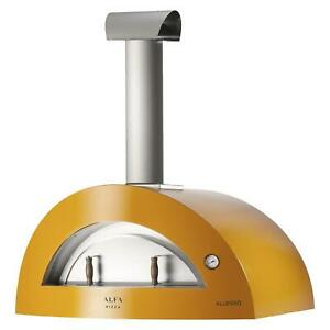 Alfa Allegro 39 inch Outdoor Countertop Wood fired Pizza Oven Yellow