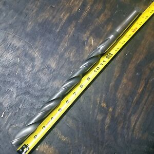 Extra Length Mt3 1 Drill Bit X18 Oal Hs 3 Morse Taper Shank Machinist 3mt 1