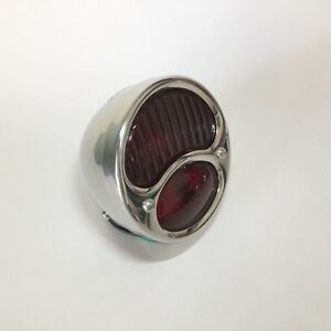 Hot Rod Ford Model A R H Tail Light With Ribbed Lens Pol S S