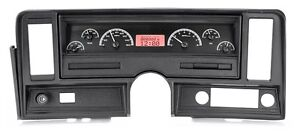 1969 76 Chevrolet Nova Black Alloy Red Dakota Digital Vhx Analog Gauge Kit