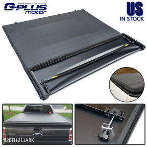 For 15 18 Ford F150 6 5ft Short Bed Soft Solid Tri Fold Clamp On Tonneau Cover