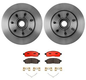 New Brembo Front Brake Kit Ceramic Pads Disc Rotors For Ford F 150 Rwd 2005 2007