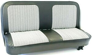 67 72 Chevy Gmc C10 Truck Black White Houndstooth Bench Seat Cover Made In Usa