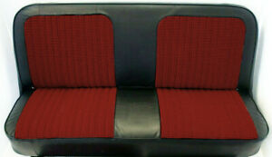 67 72 Chevy Gmc C10 Truck Black Red Houndstooth Bench Seat Cover Made In Usa