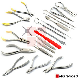 Range Of Orthodontic Instruments Sets Ligature Separating Pliers Band Selection